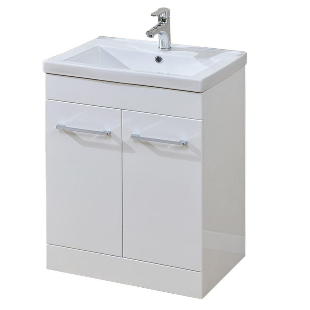 Eden 600mm 2 Door Floor Unit White