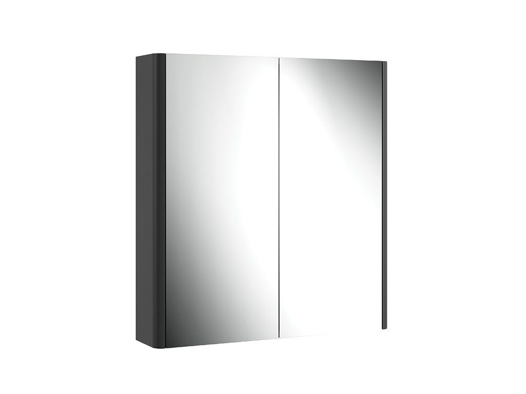CASI 700MM 2 DOOR MIRROR CABINET GREY