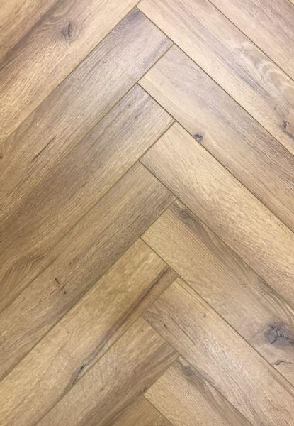Oak Robust Fumed Herringbone
